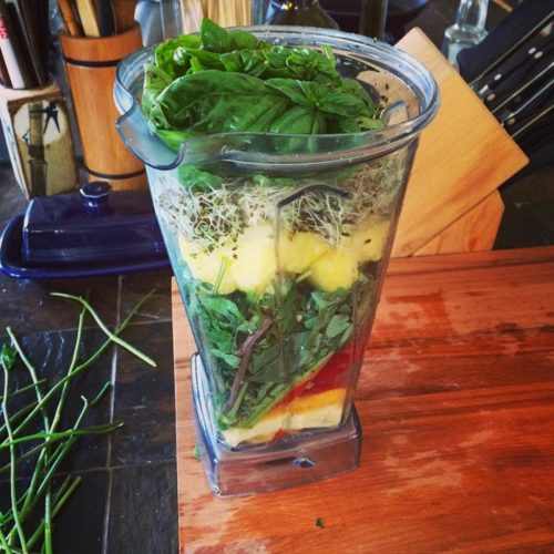 Home-grown smoothie goodness.